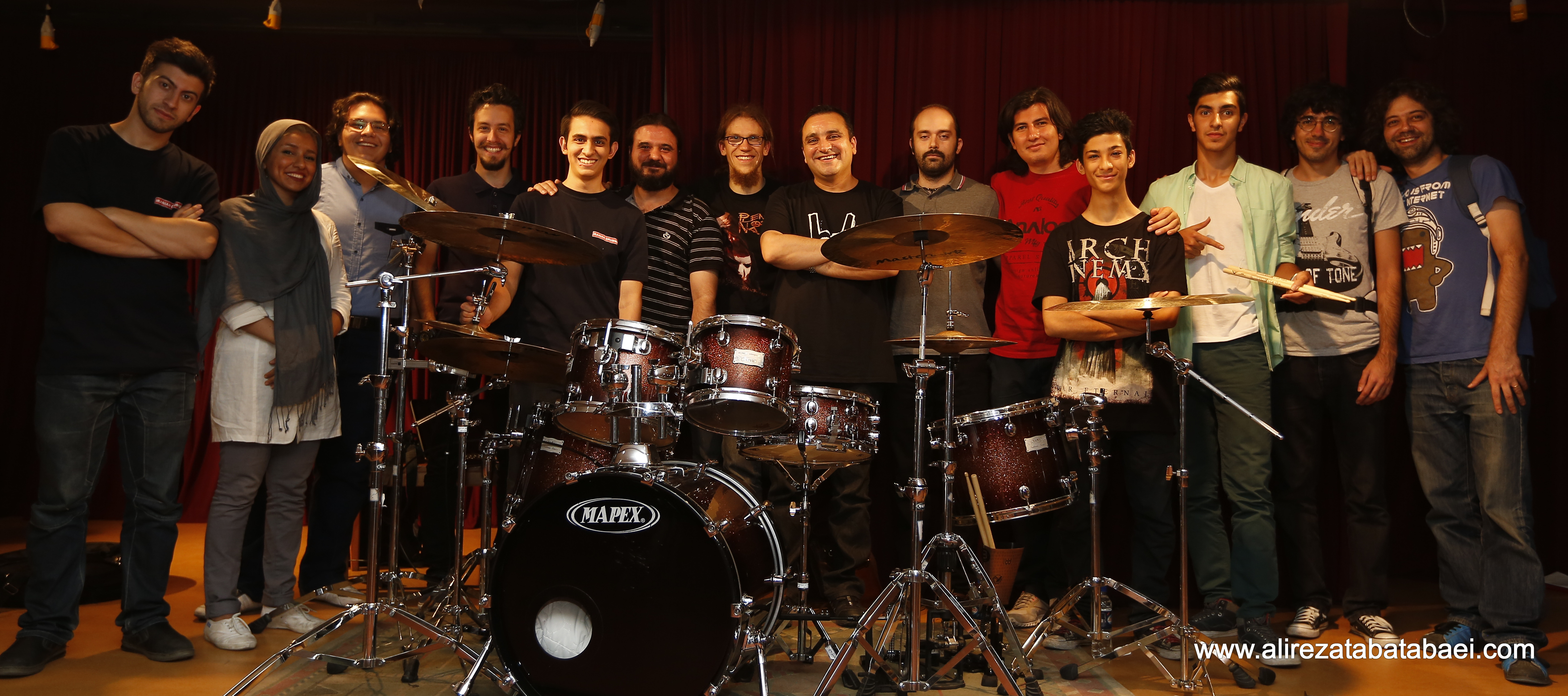 ANDI ROHDE, the young professional Drummer from Hamburg in Tehran ...